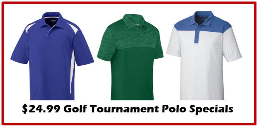 24.99 golf tournament polo special